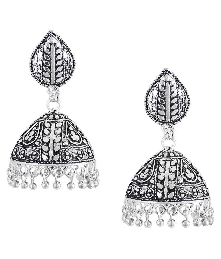 Shining Jewel 925 Silver Jhumki Earrings (SJ_866)