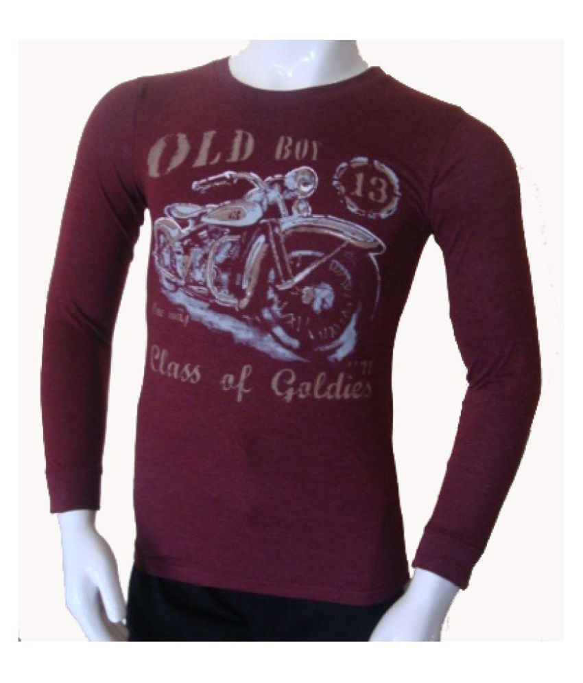 Stable Impex Maroon Round T-Shirt