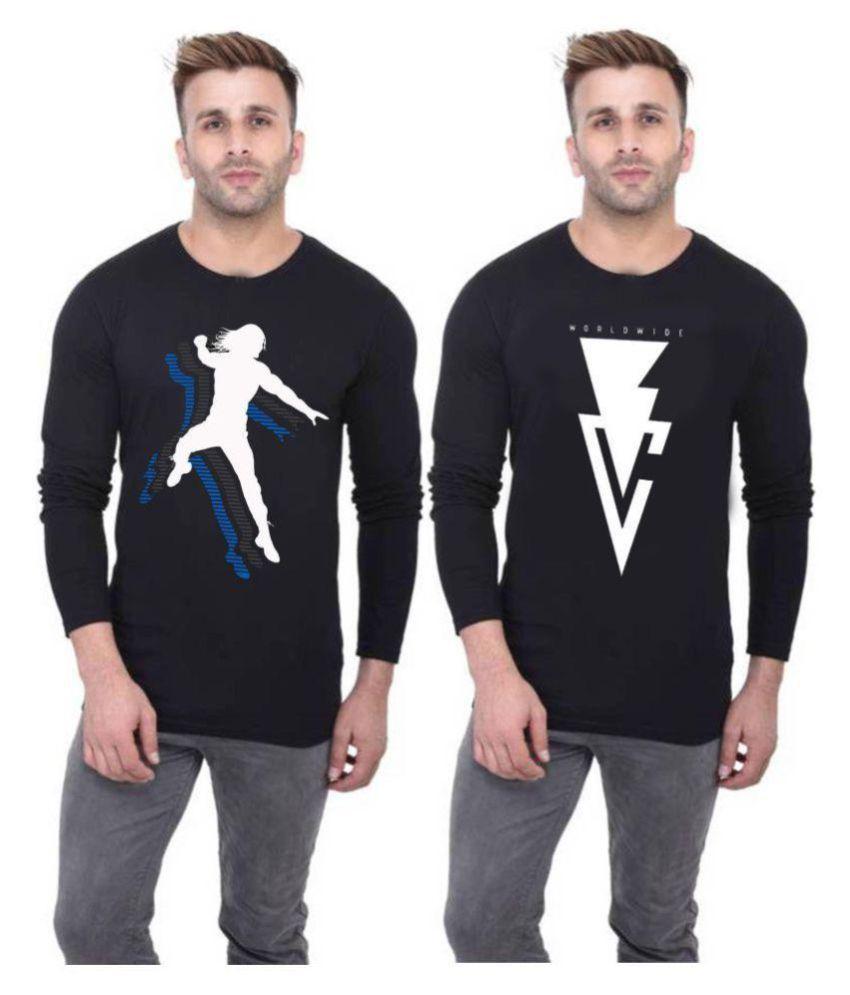 WWE TSHIRTS Black Round T-Shirt