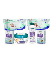 Himalaya Gentle Baby Wipes 72Pcs (Pack of 2) + Soothing Body Butter Jasmine 200 ml + Gentle Baby Soap 125 gms (2Pcs) + Himalaya Baby Powder 100g