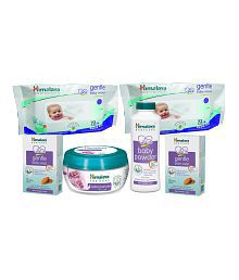Himalaya Gentle Baby Wipes 72Pcs (Pack of 2) + Soothing Body Butter Rose 200 ml + Gentle Baby Soap 125 gms (2Pcs) + Himalaya Baby Powder 100g