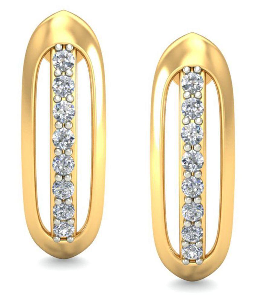 Celenne By Gili 18k BIS Hallmarked Gold Diamond Studs