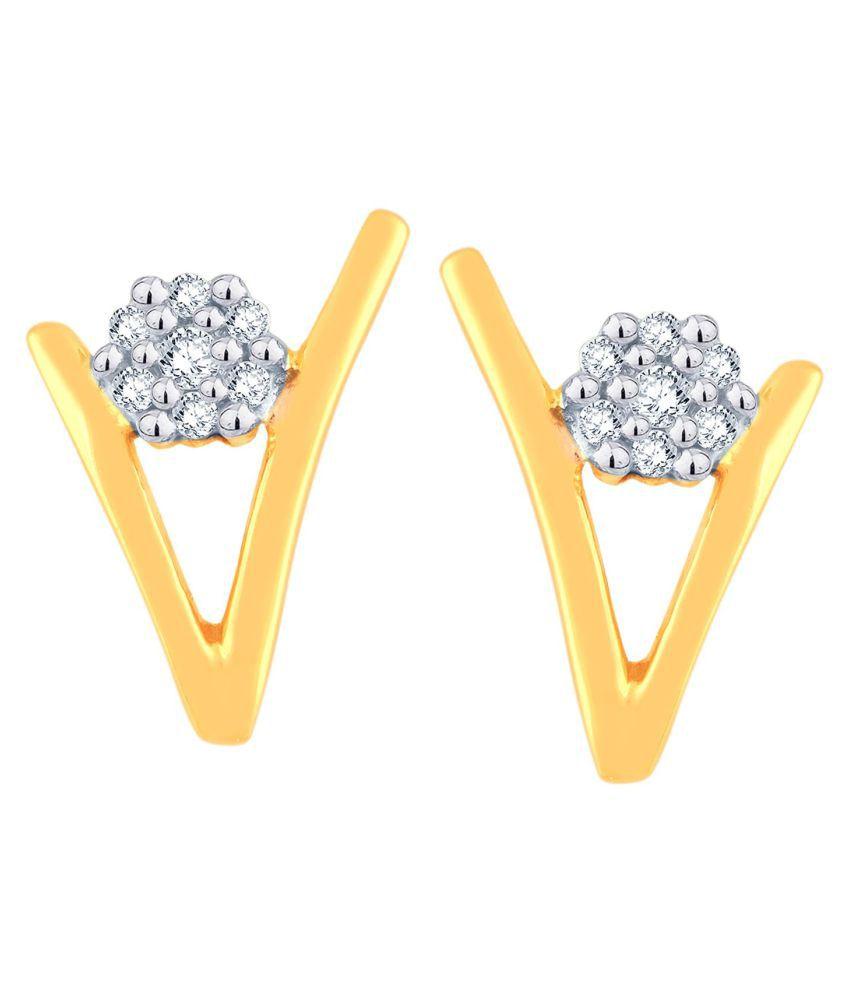 Sangini 18k BIS Hallmarked Gold Diamond Studs