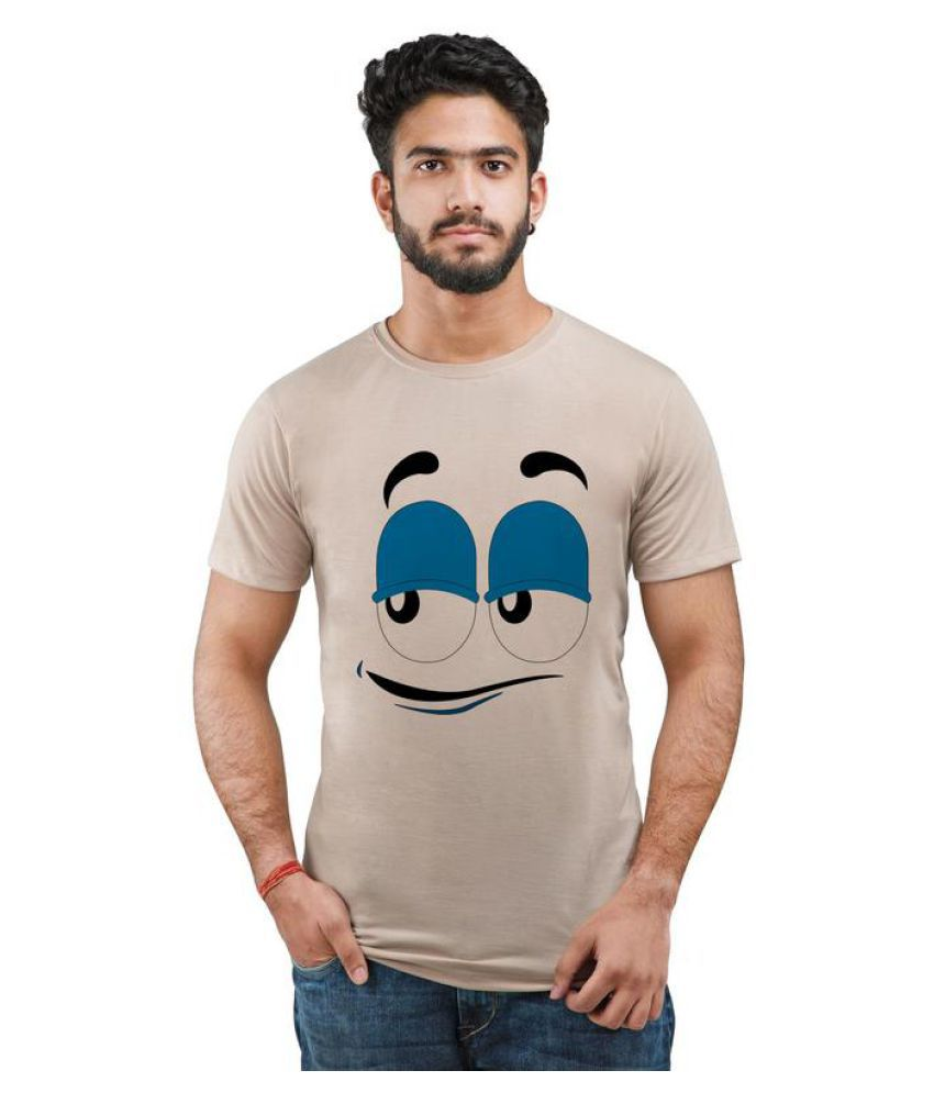 Snoby Brown Round T-Shirt
