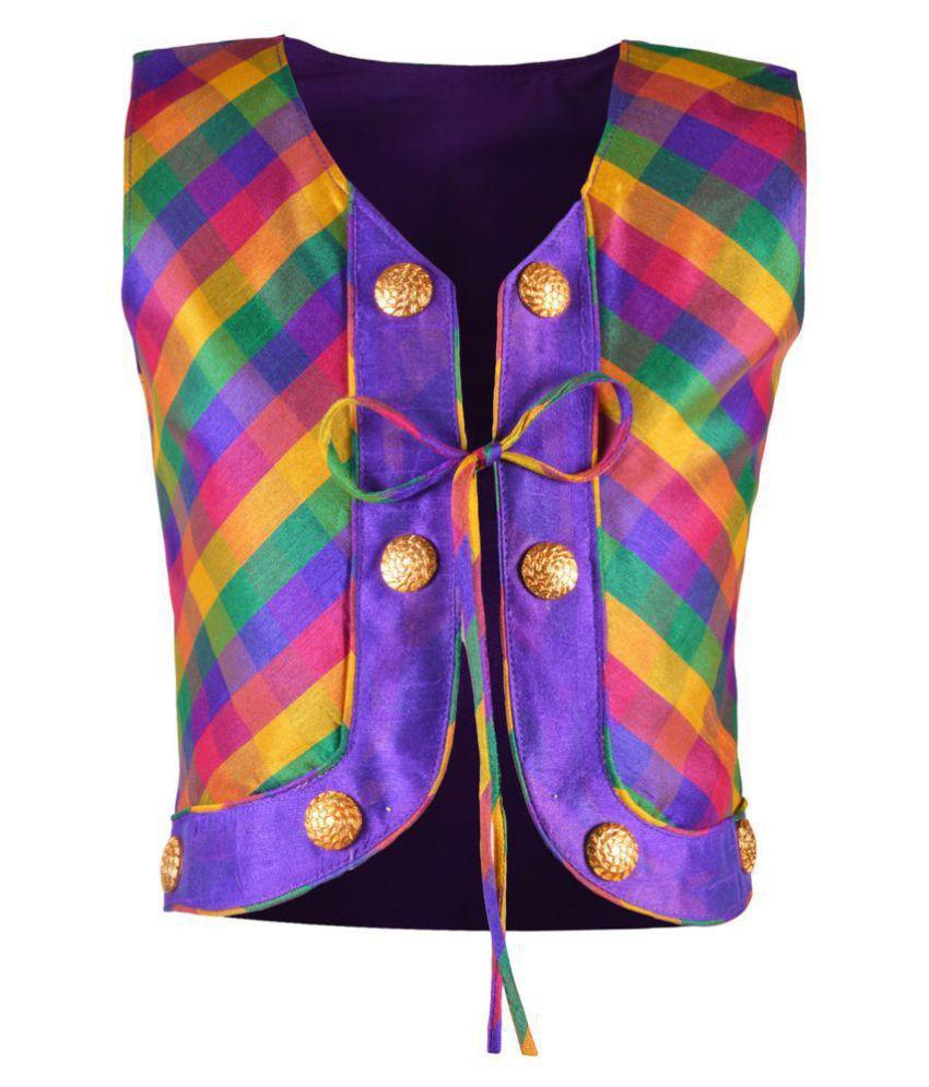 Aarika Girl's Cotton Silk Ethnic Jacket