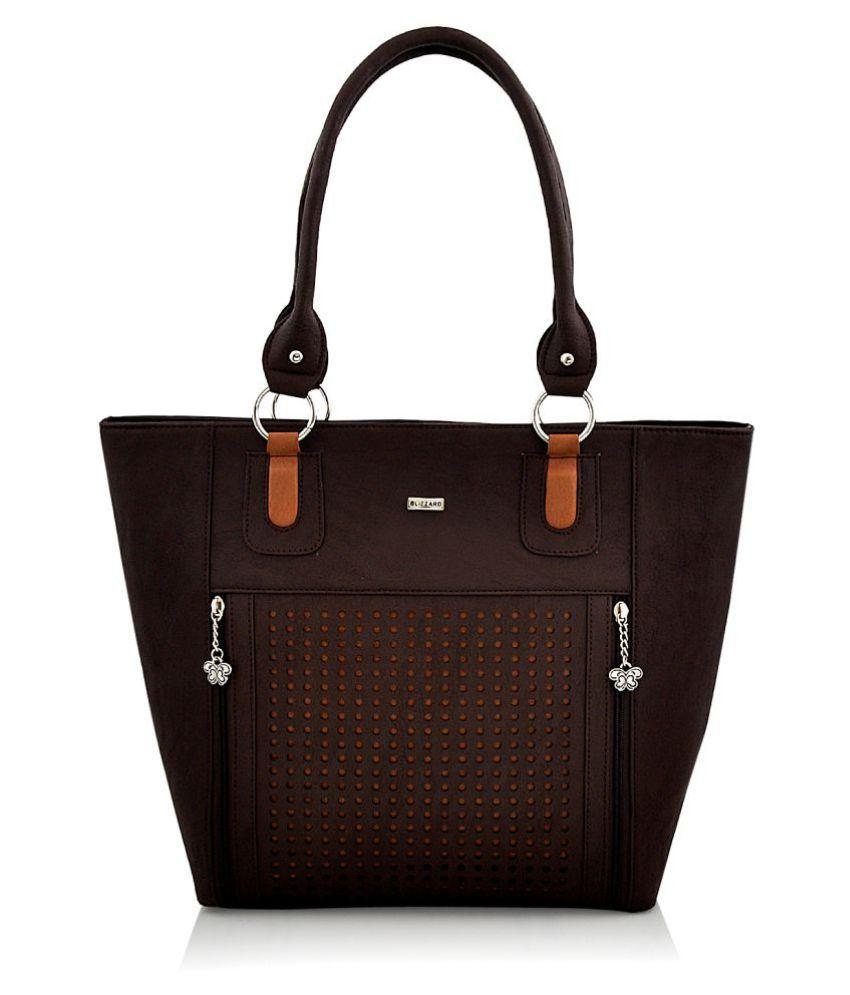 Blizzard Brown P.U. Shoulder Bag