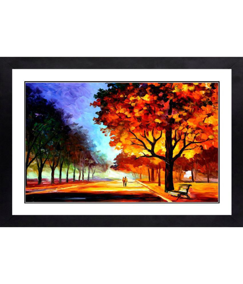 CRAFTSFEST MODERN ART MDF Painting With Frame- (30cmX20cmX1.5cm)