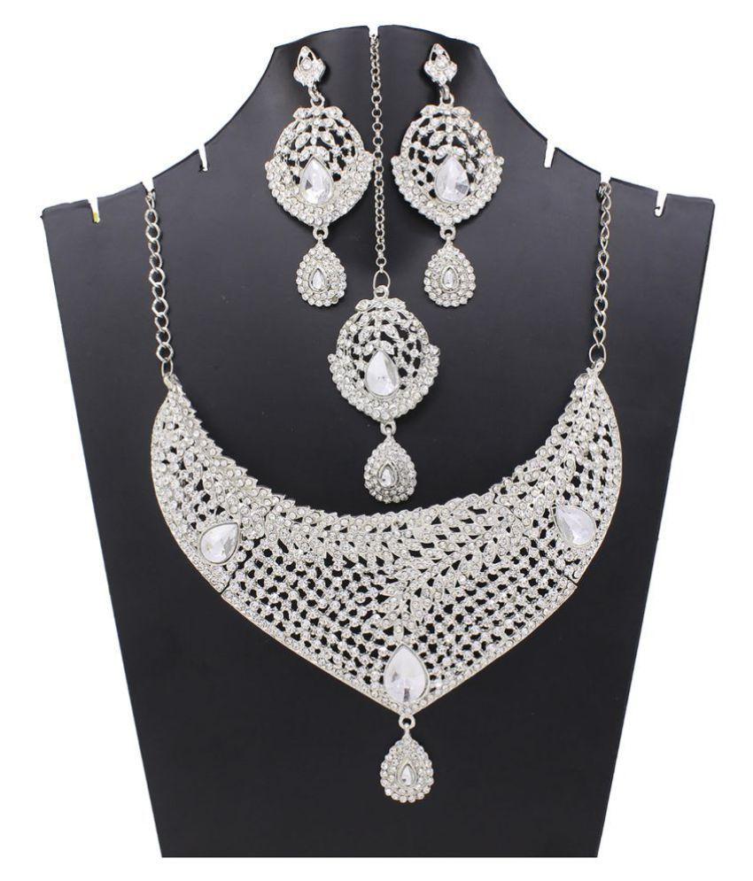 GOH Fashion jewellery Bridal Women  Party wear Necklace Set Set59