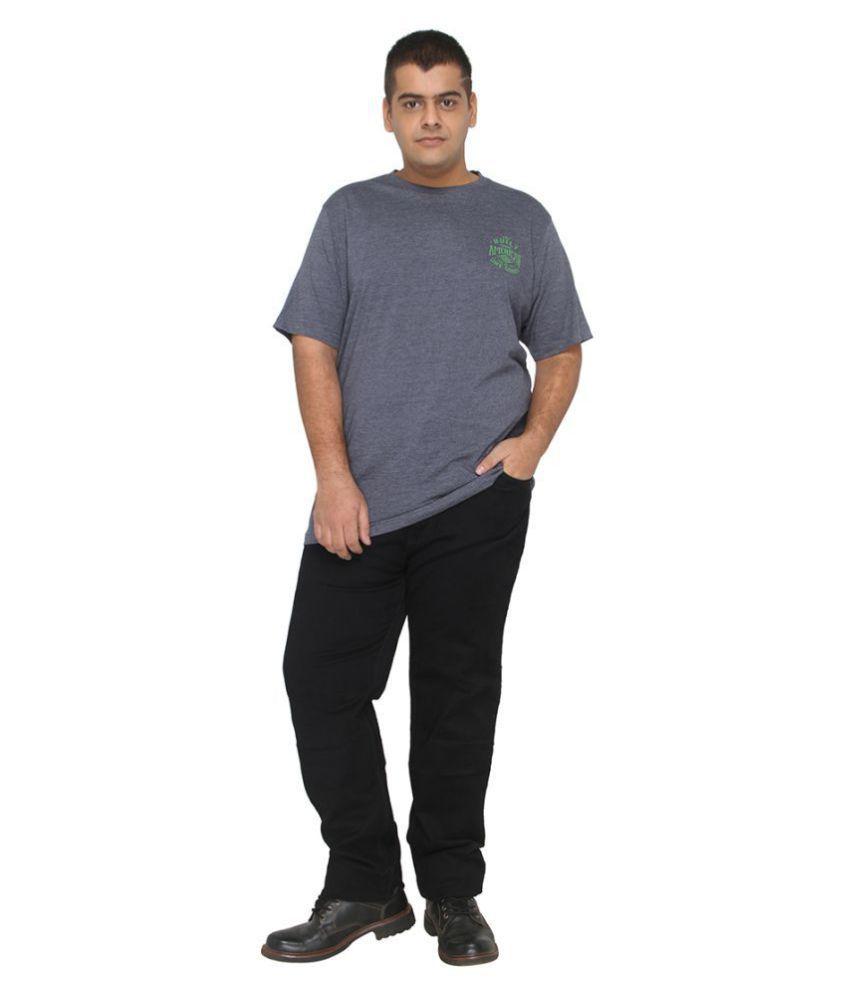 XMEX Navy Round T-Shirt