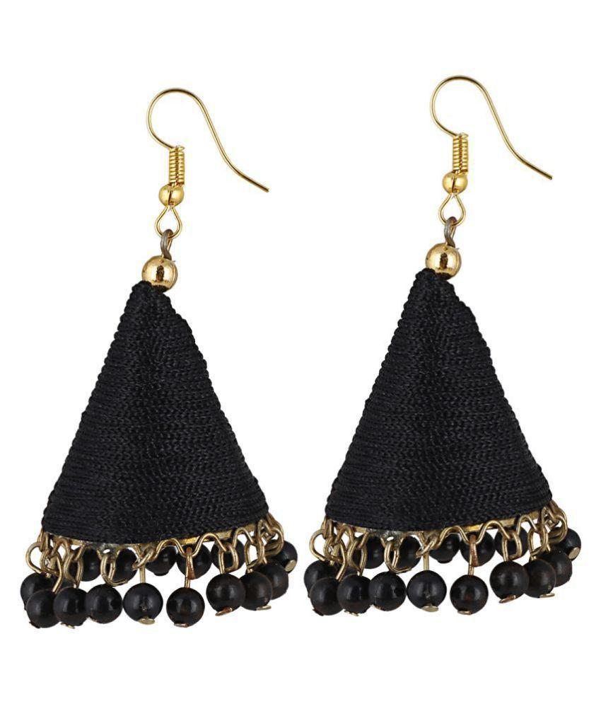 Aradhya Designer Black Thread Jhumki Earrings for Women and Girls …
