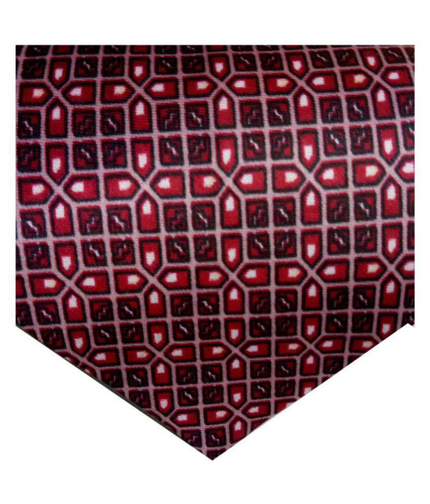 GEET KREATIONS Red Printed Satin Necktie