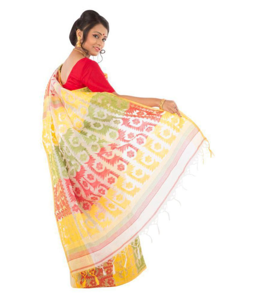Manjusha Multicoloured Cotton Saree