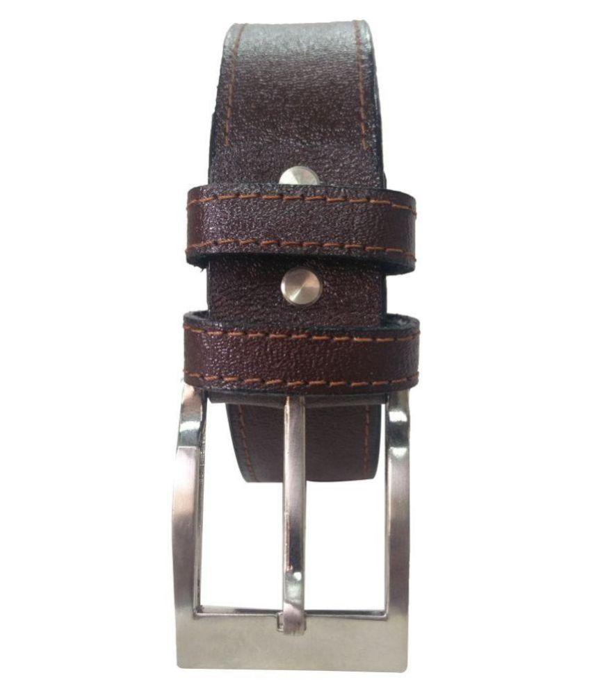 Revo Brown Leather Formal Belts