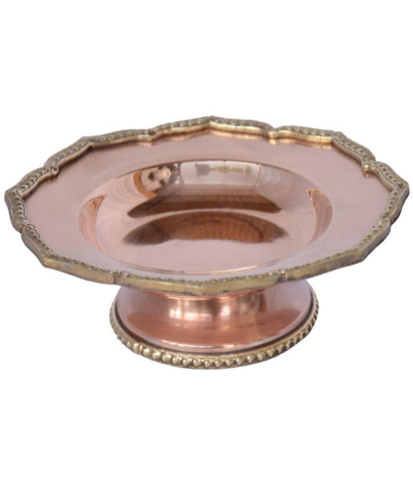 ARIHANTT JEWELS Brown Brass Decoratives Bowls & Plates 15 - Pack of 1