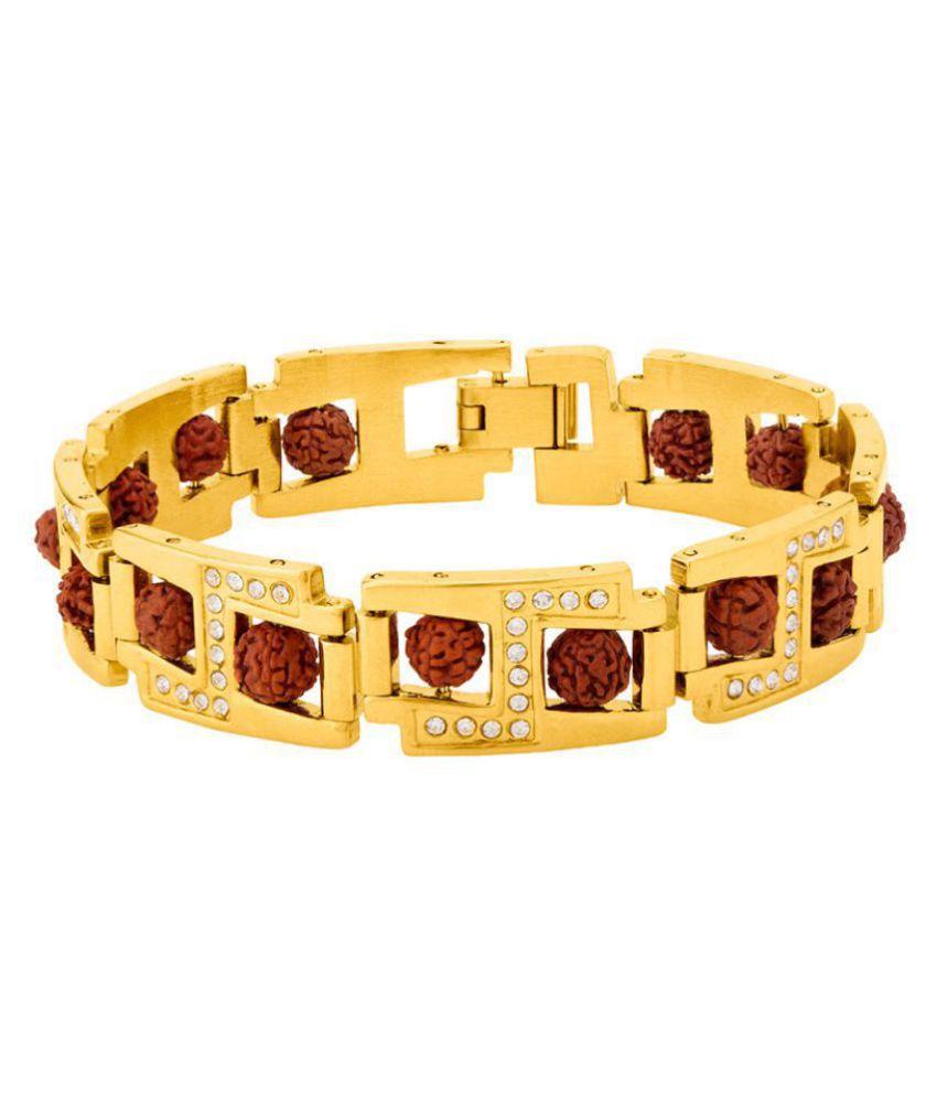 CZ Graced Faux Rudraksha Beaded Bracelet