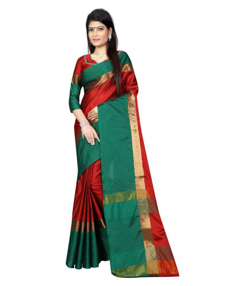 Ethnic Fashion Multicoloured Cotton Saree
