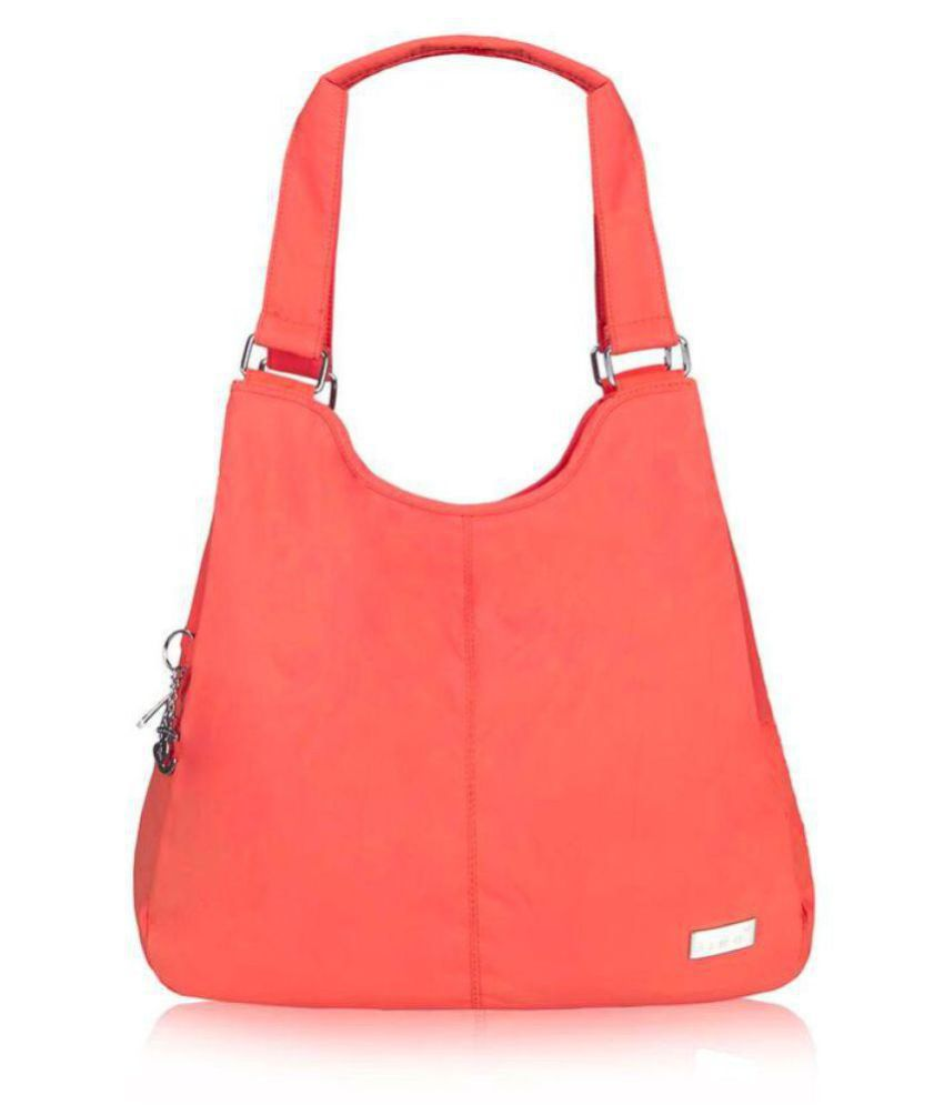Jinu Peach Nylon Sling Bag