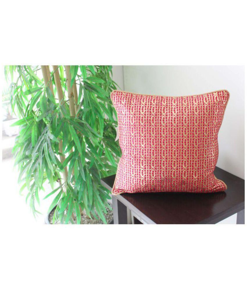 Vellum Single Poly Dupion Cushion Covers 40X40 cm (16X16)