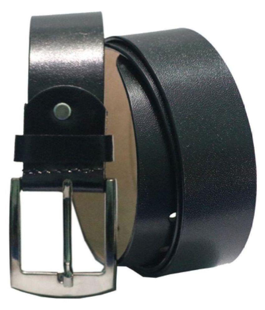 ARIZIC Black Leather Formal Belts