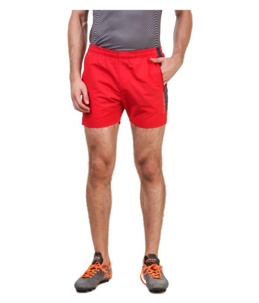 Nivia Red Polyester Fitness Shorts