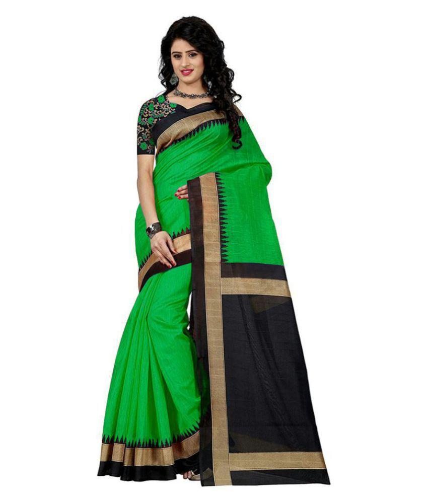 Sanjana collection Green Silk Saree