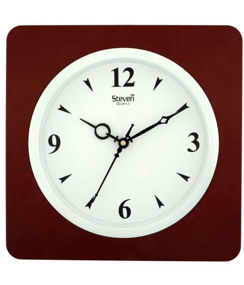 steven Square Analog Wall Clock 8 Pack of 1 Buy steven Square