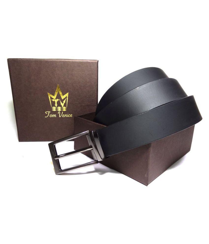 Tom Venice Black Leather Formal Belts