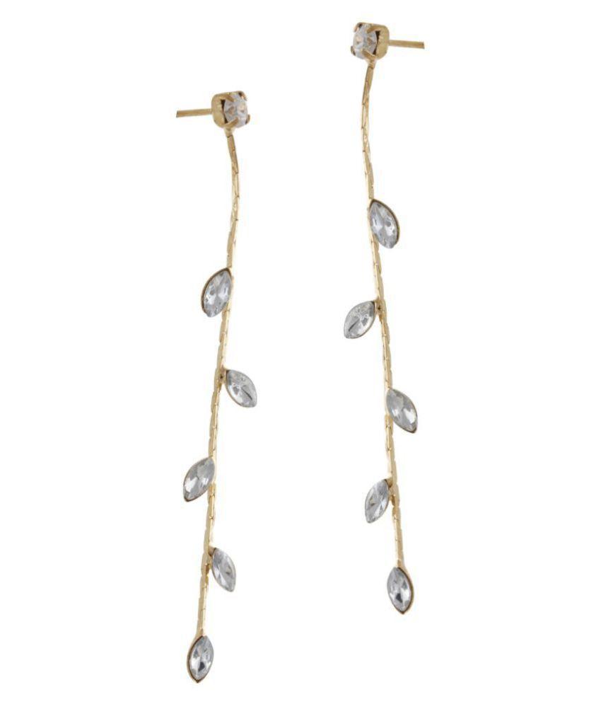 Leaf Climber Drop Earrings