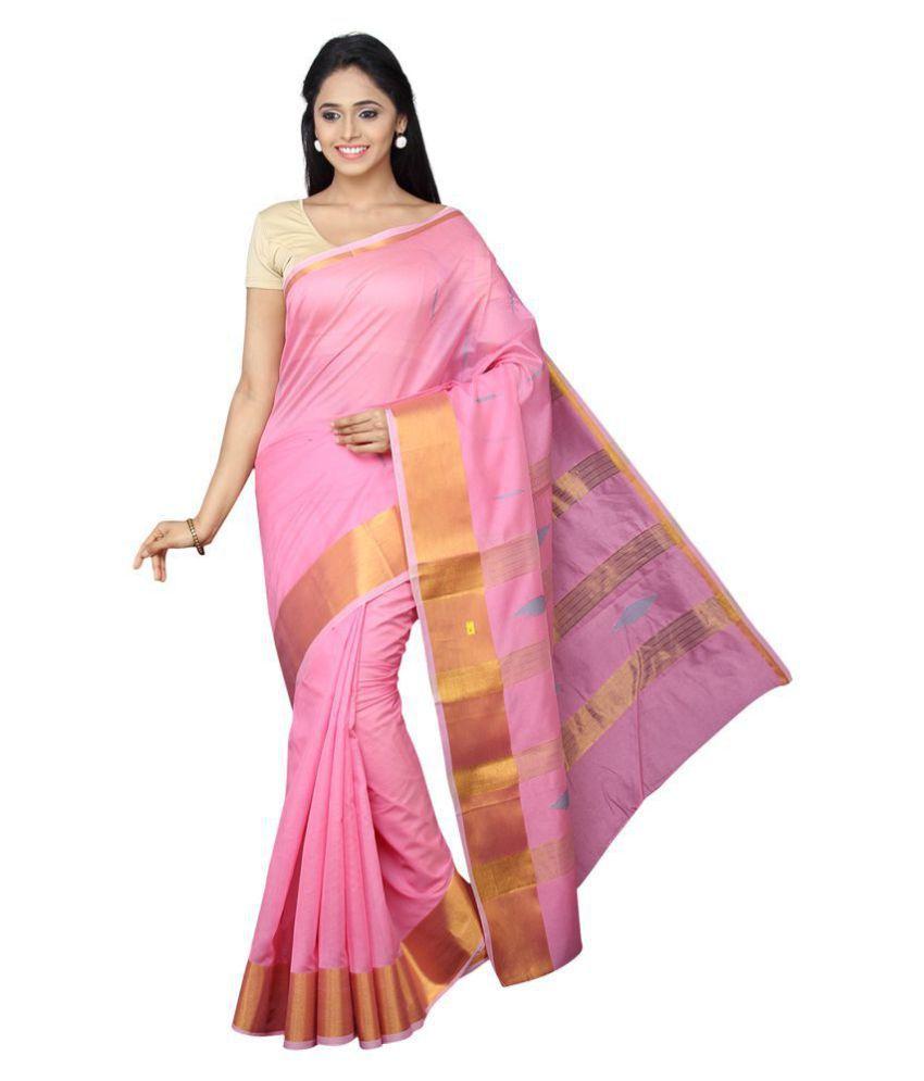 Pavecha's Pink Banarasi Silk Saree