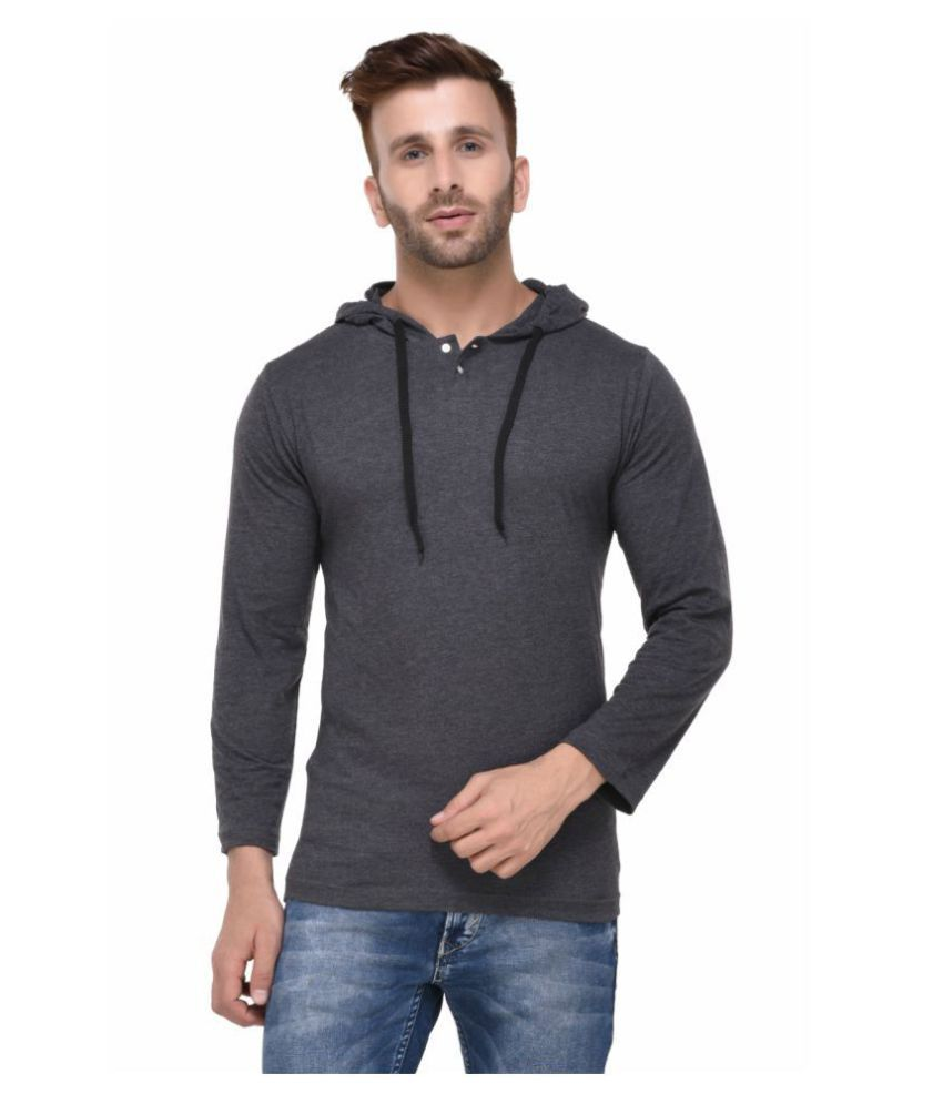 Rigo Grey Hooded T-Shirt