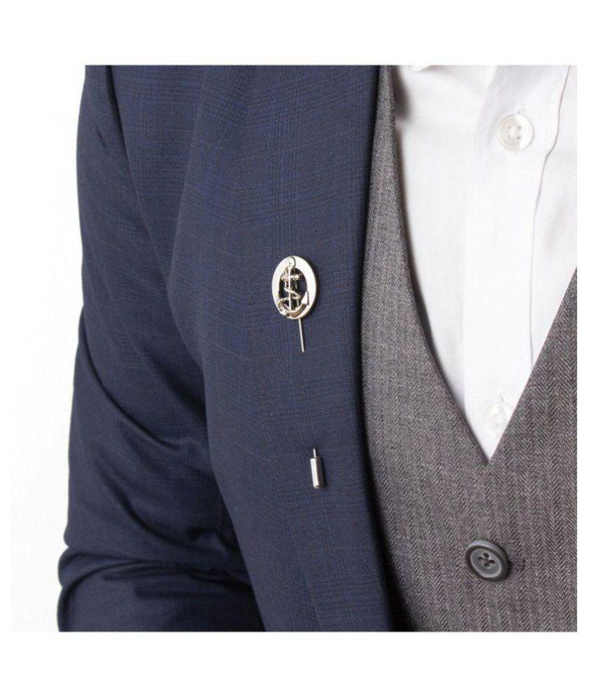 Combo of Vibhavari Men's Bow Tie & Lapel Pin