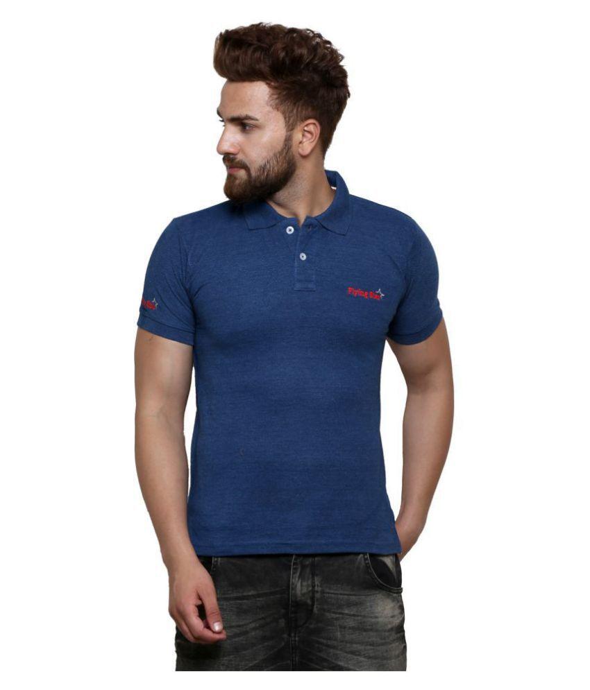 Flying Star Navy Round T-Shirt