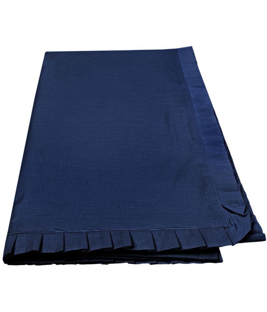 Just Linen Single Cotton Blue Plain Dohar