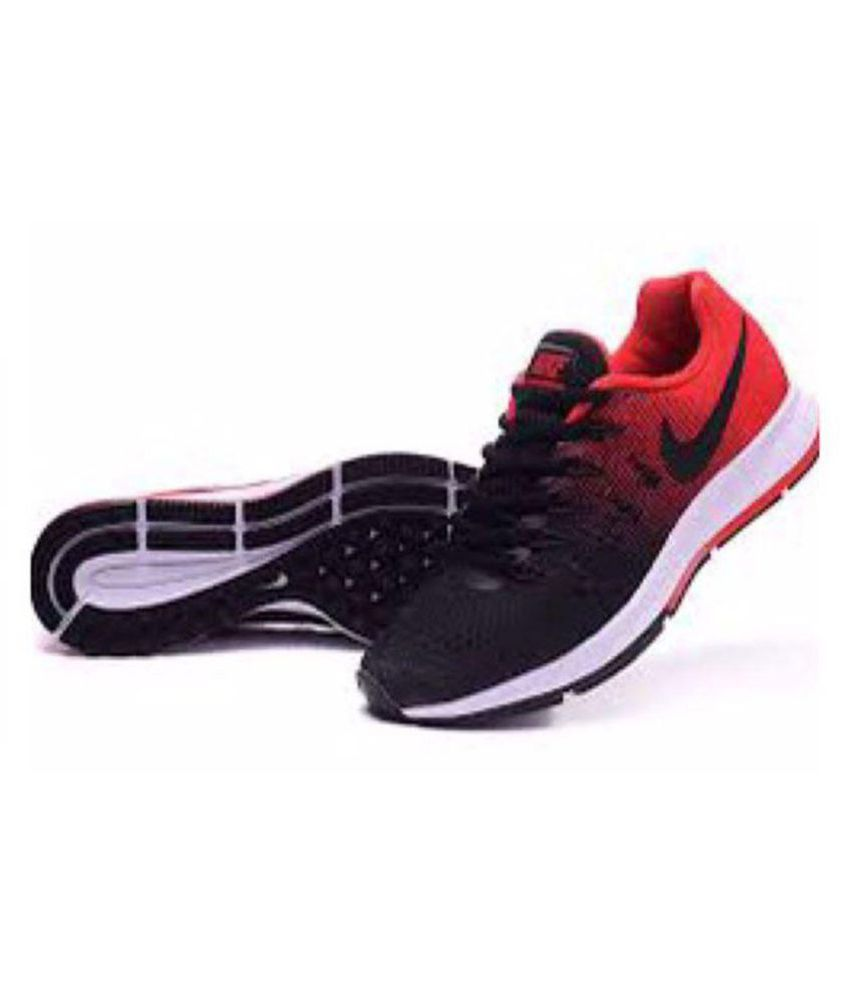 1067a91bace90 Nike 1 Pegasus 33 Black red Running Shoes - Buy Nike 1 Pegasus 33 Black red  Running Shoes Online at Best Prices in India on Snapdeal