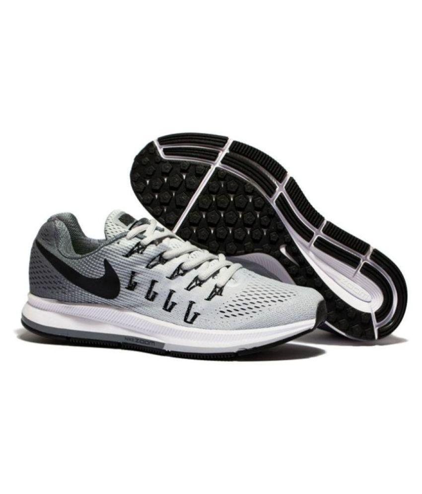 Nike 1 Pegasus 33 Grey Running Shoes - Buy Nike 1 Pegasus 33 Grey ... 674eb177b