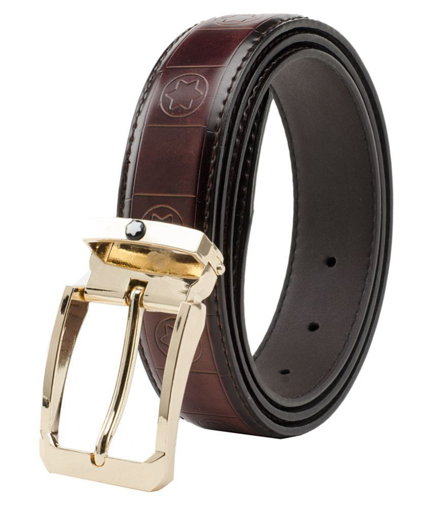 Winsome Deal Brown Faux Leather Formal Belts