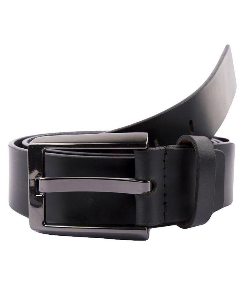 A R GOLDSTEIN Black Leather Formal Belts