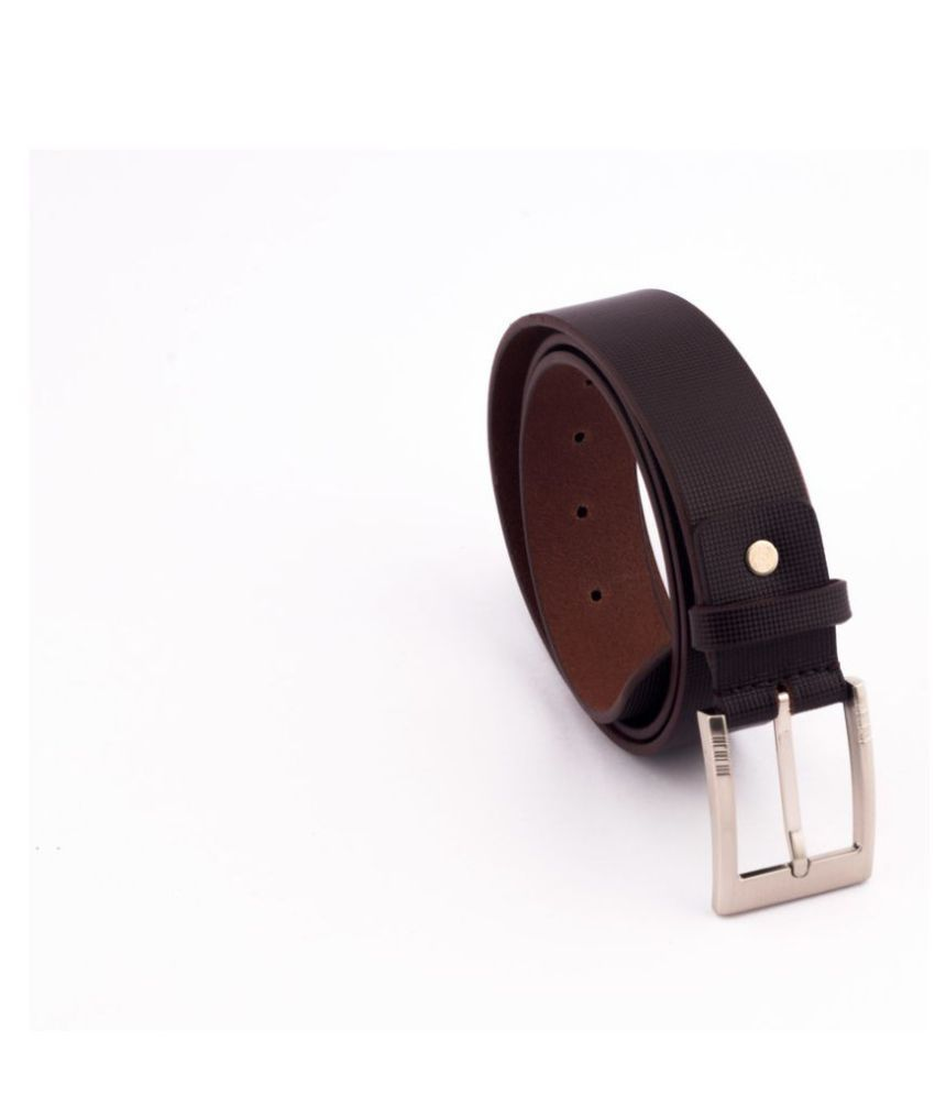 Laurent Benen Brown Leather Formal Belts