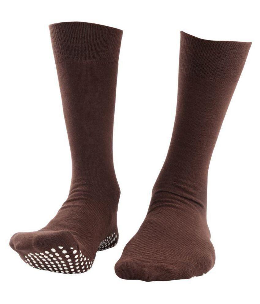 NOFALL Brown Casual Full Length Socks