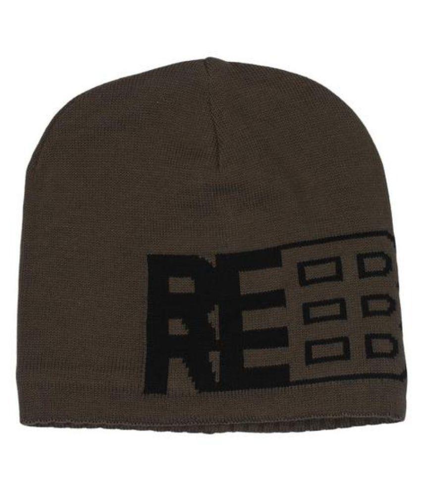 Reebok Green Plain Polyester Caps