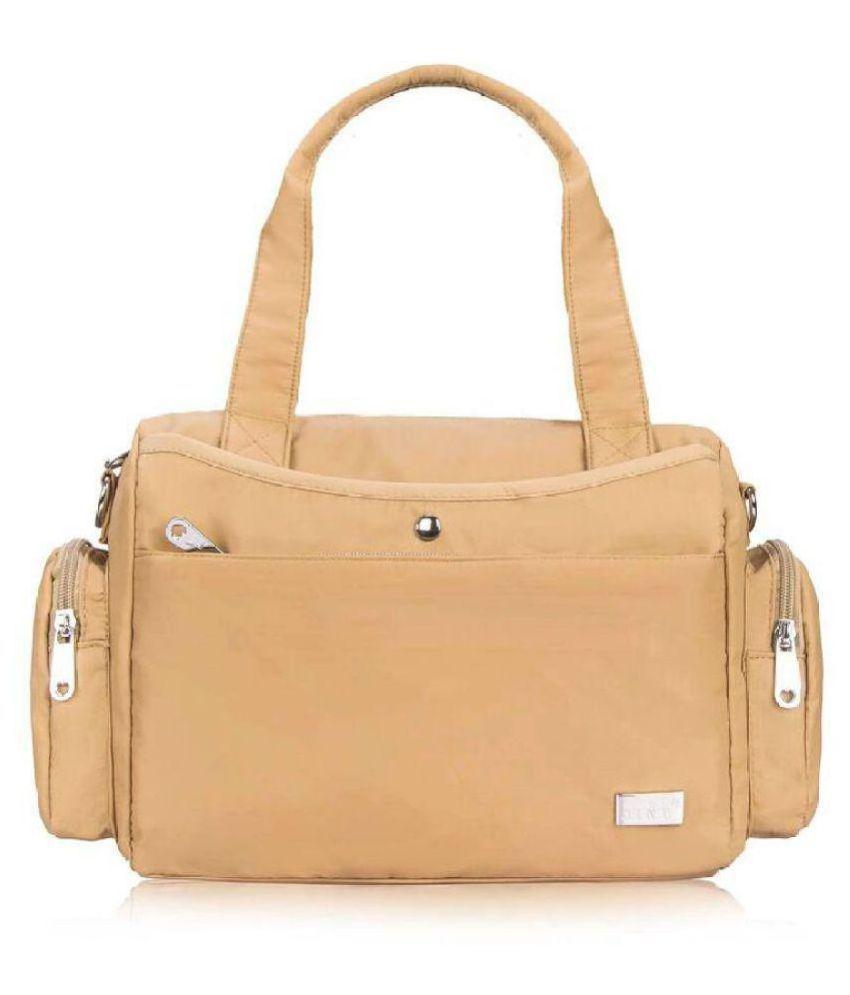 Jinu Cream Nylon Shoulder Bag