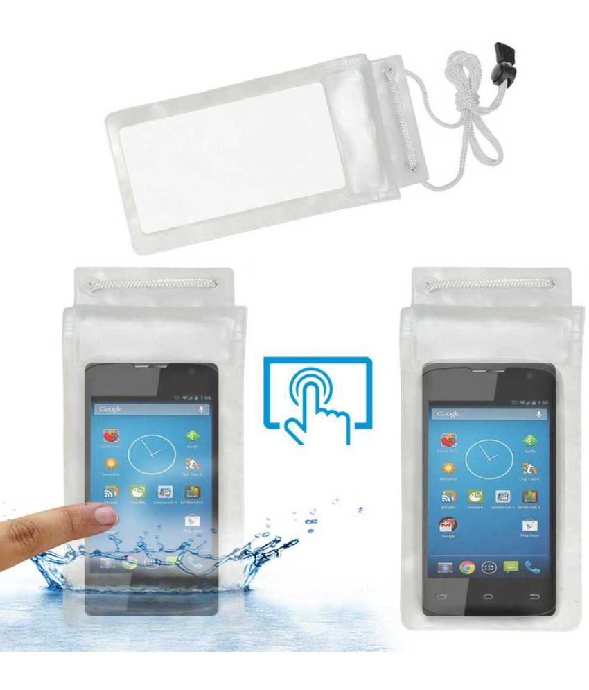 Karbonn Smart A55 Holster Cover by ACM - Transparent