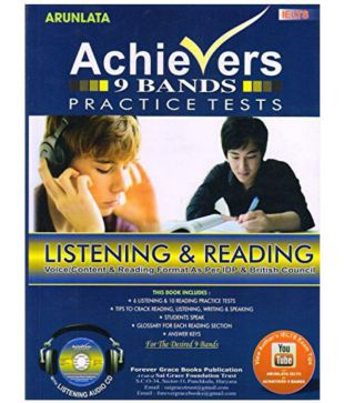 Achievers IELTS 9 Bands Listening and Reading Practice Set With Answer Keys  2017 Edition
