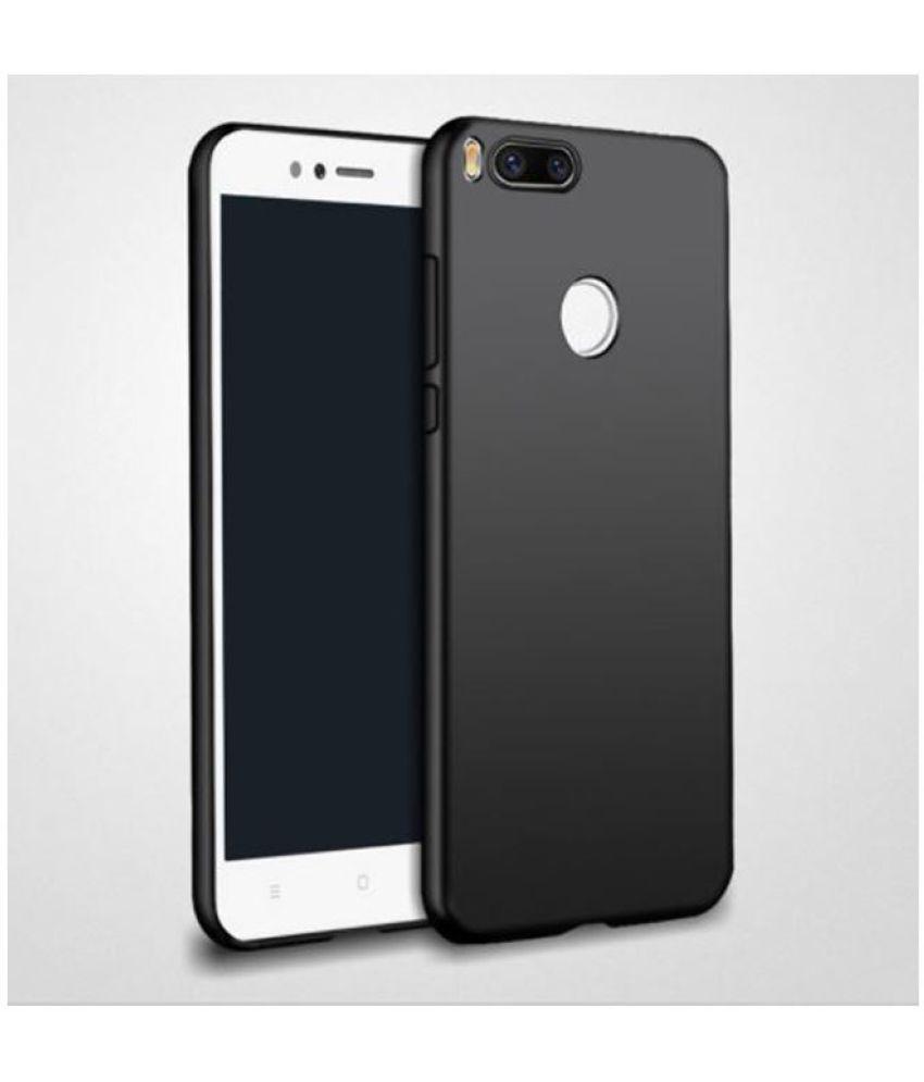 c4d3f06a0cc Xiaomi MI A1 Plain Cases Tidel - Black - Plain Back Covers Online at ...