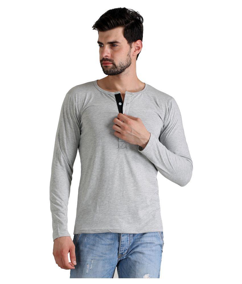 Atheno Grey Henley T-Shirt