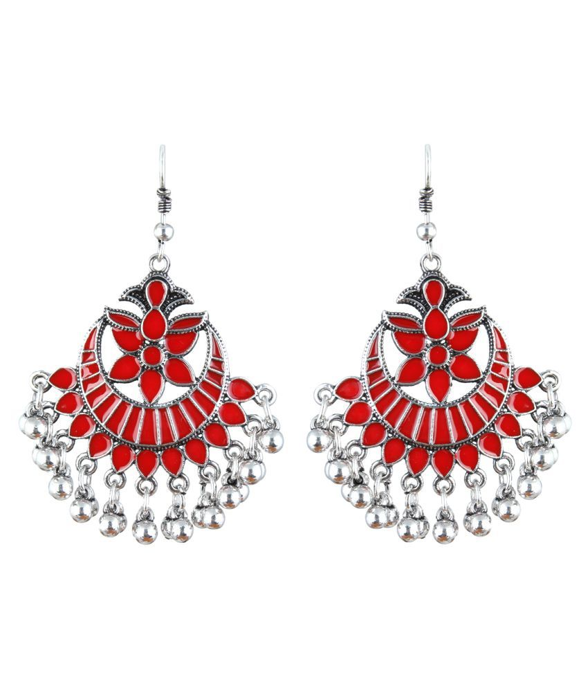Waama Jewels Elegant Pair of Dangler & Drop Afghani Earrings Perfect For All Occasions For Girls & Women