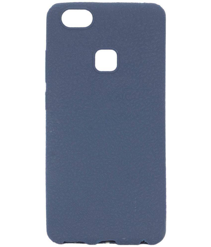 buy online a22b8 b8bae vivo V7 plus Soft Silicon Cases Iway - Blue