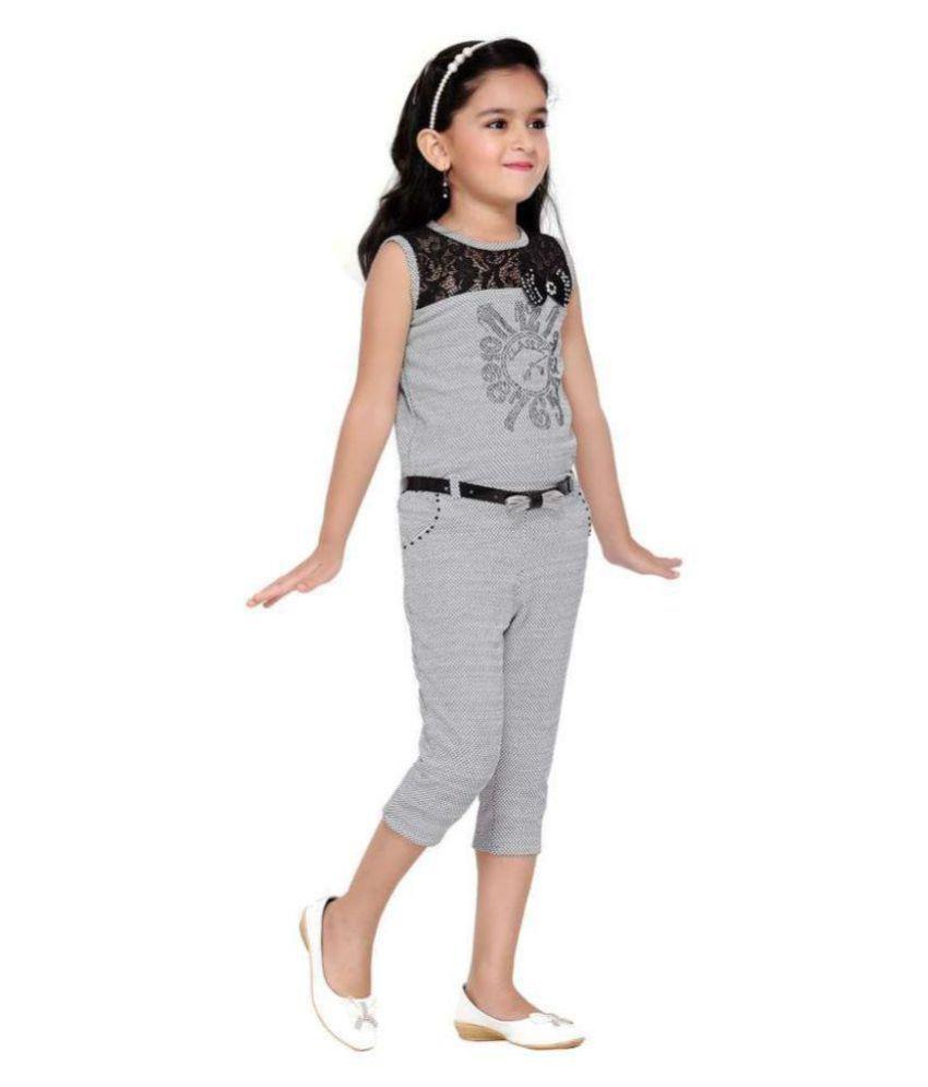 7d6f71281326 Aarika Girl s Self Design Party Wear Jumpsuit - Buy Aarika Girl s ...