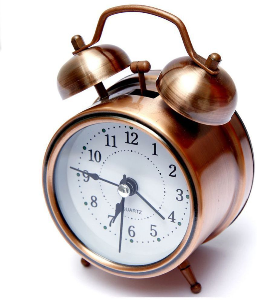 E-DEAL Analog Vintage Twin Bell copper Table Alarm Clock - Pack of 1