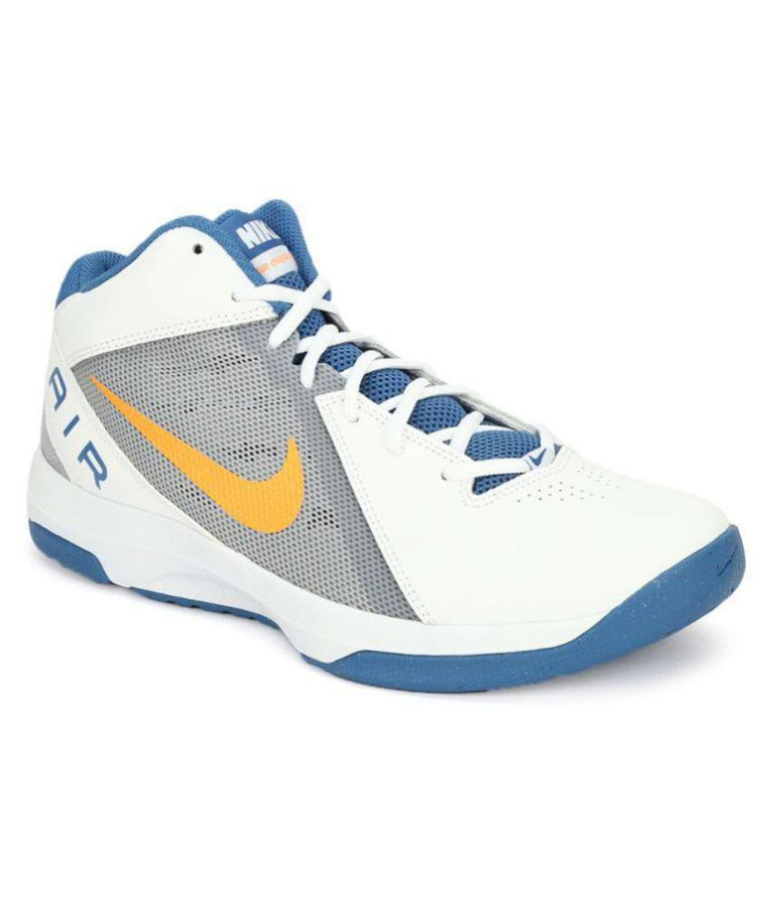 39d6be39122 Nike AIR OVERPLAY IX White Basketball Shoes - Buy Nike AIR OVERPLAY IX  White Basketball Shoes Online at Best Prices in India on Snapdeal